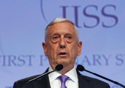 "alt=""China upset at Mattis' ""irresponsible remarks"" on South China Sea"""