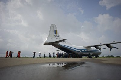 "alt=""Wreckage of missing Myanmar military plane is found"""