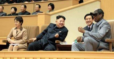 "alt=""Dennis Rodman is on his way to North Korea"""