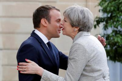 "alt=""France's Macron says EU door remains open to UK"""
