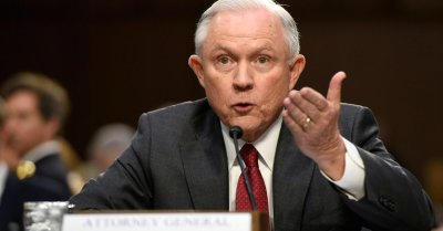 "alt=""Sessions forcefully denies colluding with Russians"""