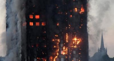 "alt=""Some dead, >50 taken to hospital, as fire engulfs London tower block"""