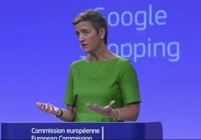 """alt=""""Google fined 2.42bn euros for illegally favouring its own shopping service"""""""