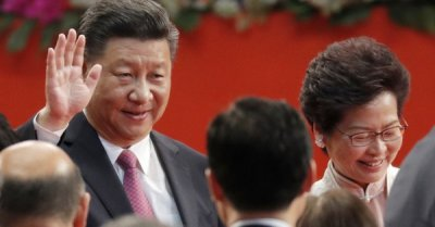 "alt=""China's president tells Hong Kong not to cross 'red line' by challenging Beij"