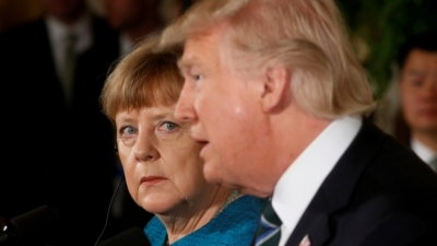 "alt=""Merkel reiterates Europe can no longer fully rely on U.S."""