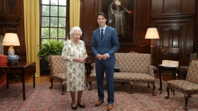 "alt=""Trudeau has audience with Queen after honorary doctorate in Edinburgh"""