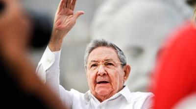 "alt=""Cuba's Raul Castro dismisses harsher US tone under Trump"""