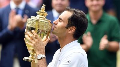 "alt=""Federer wins record 8th Wimbledon championship"""