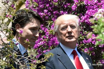 "alt=""Commentary: Justin Trudeau masters the Trump two-step"""