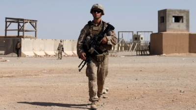 "alt=""U.S. kills 12 Afghan police in airstrike amid violent clashes with Taliban"""