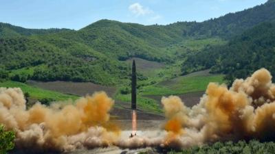 """alt=""""North Korea fires missile landing in sea off Japan"""""""