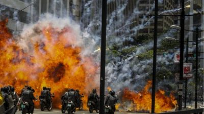 "alt=""Venezuela crisis: Deadly clashes amid tense election for assembly"""