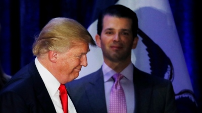 "alt=""Trump dictated misleading statement on son's meeting with Russian lawyer"""