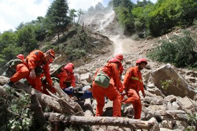 "alt=""Earthquake strikes China's remote Sichuan province"""