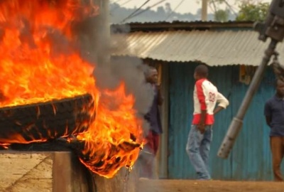 "alt=""At least eleven dead as post-election unrest erupts in Kenya"""