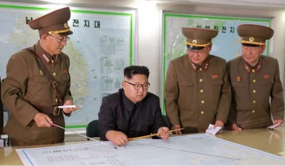 "alt=""Trump praises North Korea's Kim for 'wise' decision on Guam"""