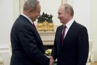 "alt=""Israel's Netanyahu to discuss Middle East with Putin: statement"""