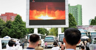 "alt=""North Korea fires three short-range missiles; all fail"""