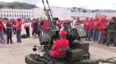 "alt=""Venezuela holds military drills after US threat"""