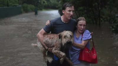 "alt=""Houston flood: Dams begin overflowing amid record rainfall"""