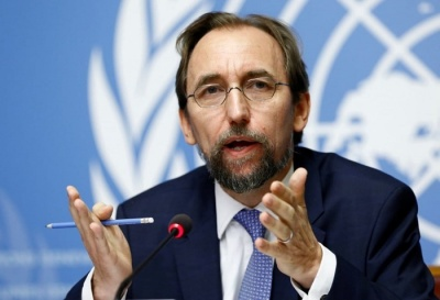 "alt=""Trump's attacks on press ""could amount to incitement,"" U.N. human rights chief says"""