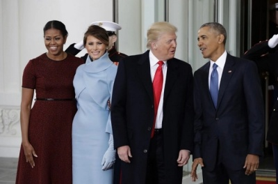 "alt=""In parting letter, Obama urged Trump to guard 'democratic institutions & traditions'"""