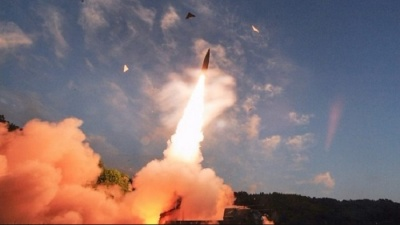 "alt=""North Korea preparing more missile launches, says South"""