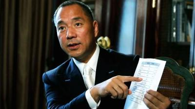 "alt=""Exiled Chinese billionaire blasts 'kleptocracy' running China"""