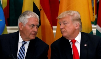 """alt=""""Trump says Tillerson could be tougher, but they have good relationship"""""""