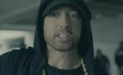 "alt=""Eminem's video message: 'We're not afraid of Trump'"""