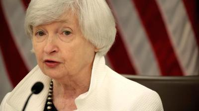 """alt=""""Yellen sounds upbeat on economy, signaling likely rate hike"""""""