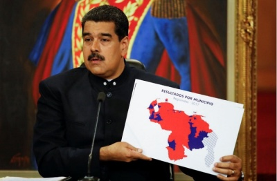 "alt=""Venezuela's Maduro defends disputed vote, opposition divided"""