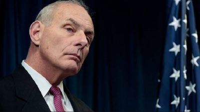 """alt=""""White House chief of staff John Kelly defends Trump over widow remarks"""""""