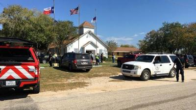 "alt=""Church shooting in Sutherland Springs, Texas, leaves 26 dead"""