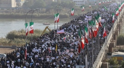 "alt=""Iran stages pro-government rallies, derides Trump 'blunder' at U.N."""