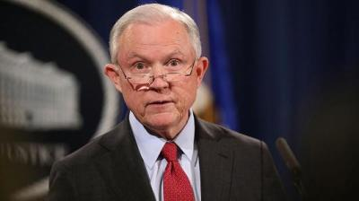 "alt=""Attorney General Sessions questioned in special counsel's Russia probe"""