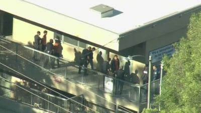"alt=""Two shot after girl, 12, opens fire at Los Angeles school"""