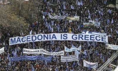 "alt=""Hundreds of thousands join Macedonia name protest in Athens"""