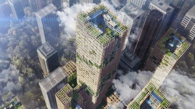 "alt=""Plans drawn up for world's tallest wooden skyscraper"""