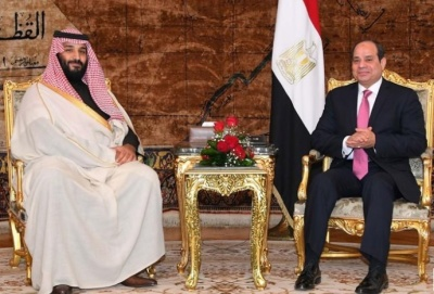 "alt=""Crown prince signs $10 billion deal on mega-city during Cairo visit"""
