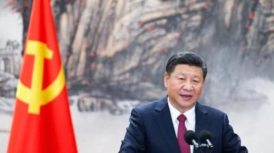 "alt=""Xi Jinping is re-elected as China's president"""