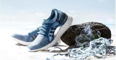 "alt=""Adidas sold 1 million shoes made out of ocean plastic in 2017"""