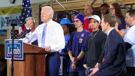 "alt=""Biden could be a 'pretty serious' Trump opponent, but Democrats won't go there"""