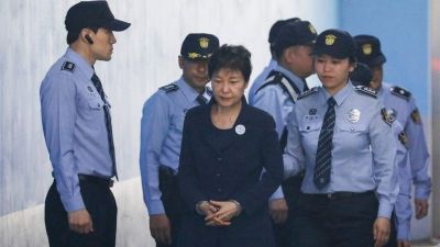 "alt=""Park Geun-hye: South Korea's ex-leader jailed for 24 years for corruption"""