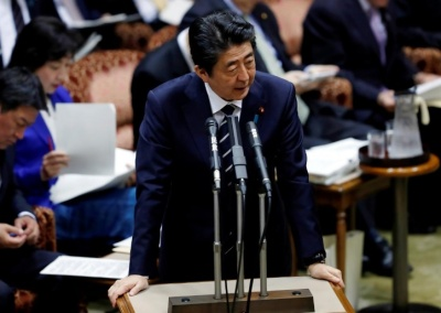 "alt=""Former Japan PM Koizumi says embattled Abe may quit in June"""