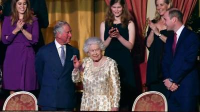 "alt=""Queen Elizabeth celebrates her 92nd birthday with pop concert"""