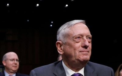 "alt=""Mattis says U.S. to continue operations in South China Sea"""