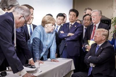 "alt=""Trump Shocks Leaders With Trudeau Insult to Upend G-7 Summit"""