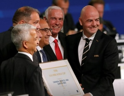 """alt=""""North America to host 2026 World Cup after winning vote over Morocco"""""""