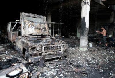 """alt=""""Deadly shoot-out, fire break Nicaragua truce; talks proceed"""""""